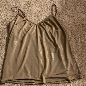 Olive green with gold shimmer camisole